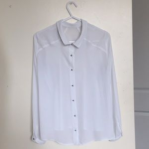 Soft shirt blouse with diamond buttons